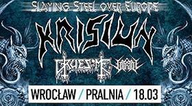 Bilety na Krisiun, Gruesome i Vitriol we wrocławskiej Pralni!