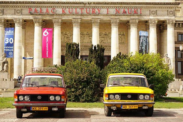 Dużym Fiatem po Warszawie