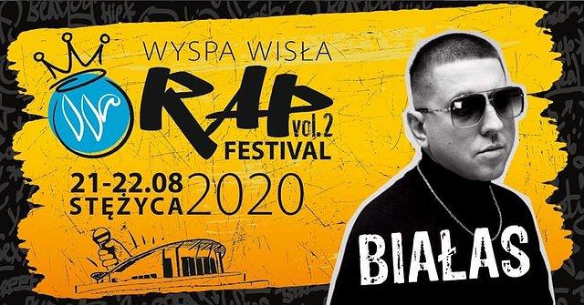 Białas na Wyspa Wisła Rap Festival 2020