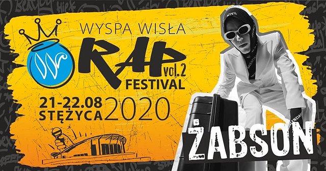 Żabson na Wyspa Wisła Rap Festival 2020