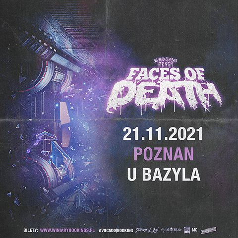 Rising Merch Faces Of Death Tour 2021 / Poznań