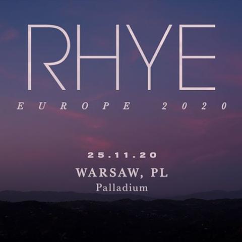 RHYE - Europe 2020
