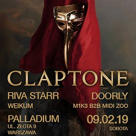Koncerty: Mist pres. Claptone / Riva Starr / Doorly