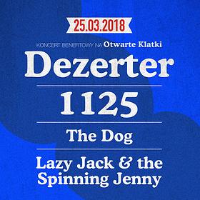 Koncerty: DEZERTER / 1125 / THE DOG / LAZY JACK AND THE SPINNING JENNY