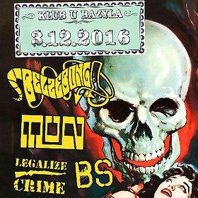 Koncerty: Belzebong, Legalize Crime, Black Smoke, MuN