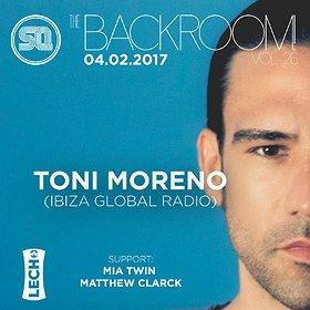 Imprezy: The Backroom! pres. Toni Moreno