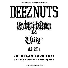Hard Rock / Metal: DEEZ NUTS + Kublai Khan TX, Unity TX, Rising Insane