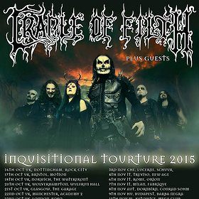 Koncerty: CRADLE OF FILTH - INQVISITIONAL TOURTURE 2015