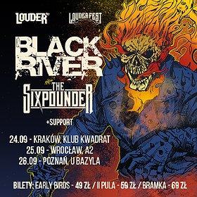 Hard Rock / Metal: Jesień z Louder Fest, edycja klubowa - Black River, The Sixpounder + support   Wrocław