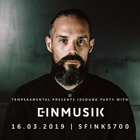Imprezy: TEMPERAMENTAL PRESENTS a I0SOUND PARTY WITH EINMUSIK - Einmusika / Katermukke