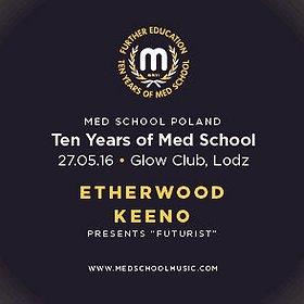 Imprezy: ETHERWOOD + KEENO - Ten Years Of MedSchool - Let It Roll Warm Up!