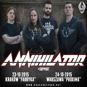 Koncerty: Annihilator + Harlott + Archer