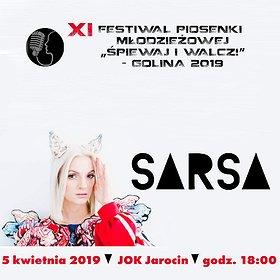 """Koncerty: SARSA Koncert galowy XI Festiwal Piosenki Młodzieżowej """"Śpiewaj i walcz!"""""""