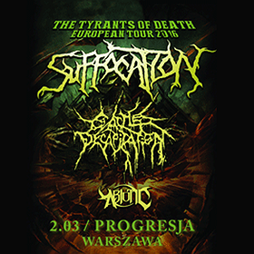 Koncerty: THE TYRANTS OF DEATH EUROPEAN TOUR 2016: Cattle Decapitation + Suffocation + Abiotic