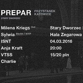 Imprezy:  Przystanek Katowice - Milena Kriegs - live | Sylwia (NYP, Berlin)