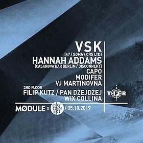 Imprezy: Module x Disconnekt Berlin pres. VSK, Hannah Addams