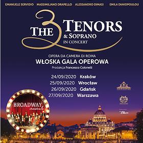 : Broadway Musicals by The 3 Tenors & Soprano | Kraków