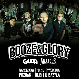 Hard Rock / Metal: Booze & Glory + Giuda, The Analogs  - Warszawa