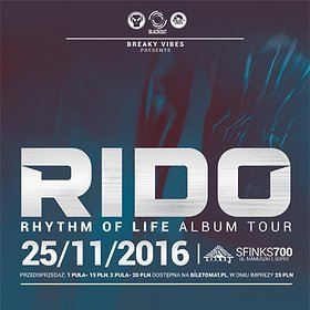 Imprezy: RIDO presents RHYTHM OF LIFE ALBUM TOUR