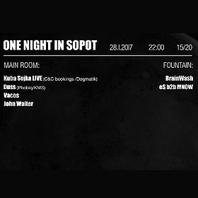 Imprezy: One Night In Sopot - Kuba Sojka [live] | Duss
