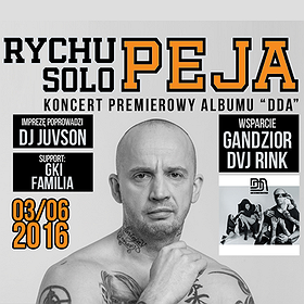 "Koncerty: Rychu Peja Solo Premiera albumu ""DDA"""