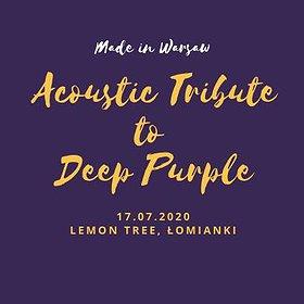 Imprezy: Tribute to Deep Purple & more /Akustycznie/