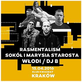 Koncerty: Rasmentalism x Sokół i Marysia Starosta x Włodi & Dj B w Krakowie